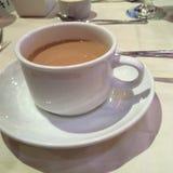 HEERLIJKE OOG OPENINGSochtend COFFE! Stock Foto's