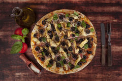 Heerlijke pizza Stock Afbeeldingen