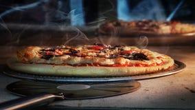 Heerlijke pizza stock afbeelding