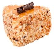 Heerlijke Plak van de Suiker van het Dessertsuikerglazuur bij de Witte Achtergrond Royalty-vrije Stock Afbeeldingen