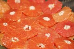 Heerlijke plakken van sinaasappel royalty-vrije stock foto
