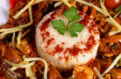 Heerlijke rijstschotel Stock Fotografie