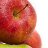 Heerlijke rode appel Stock Afbeeldingen