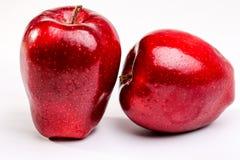 Heerlijke Rode Appelen op Witte Achtergrond Stock Fotografie