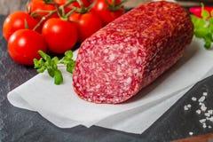 Heerlijke salami Royalty-vrije Stock Afbeelding