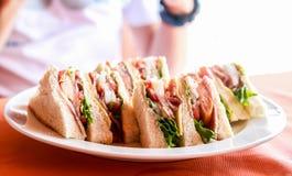 Heerlijke sandwich Stock Foto