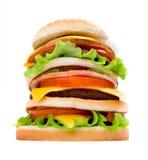Heerlijke sappige cheeseburger Stock Afbeelding