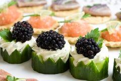 Heerlijke snacks Royalty-vrije Stock Foto's