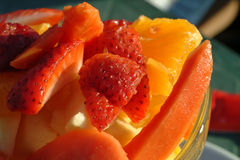 Heerlijke stukken van fruit stock foto