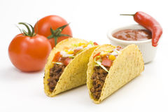 Heerlijke taco, Mexicaans voedsel Stock Foto