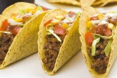 Heerlijke taco, Mexicaans voedsel Royalty-vrije Stock Afbeeldingen