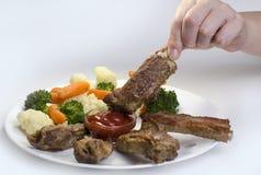 Heerlijke varkensvleesribben Stock Afbeeldingen