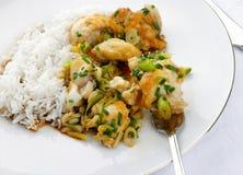 Heerlijke verse maaltijd Monkfish Stock Afbeelding