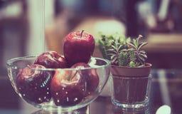 Heerlijke Verse Rode Apple-Vruchten stock afbeelding