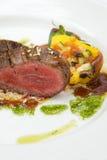 Heerlijke vlees en groenten, courgette, klok pepp Royalty-vrije Stock Foto's