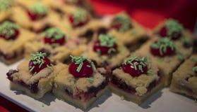 Heerlijke zoete cakes stock foto's
