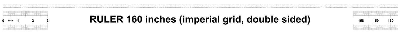 Heerser 160 duim keizer De afdelingsprijs is 1/32 duim Tweezijdige heerser Nauwkeurig metend hulpmiddel Kaliberbepalingsnet royalty-vrije illustratie
