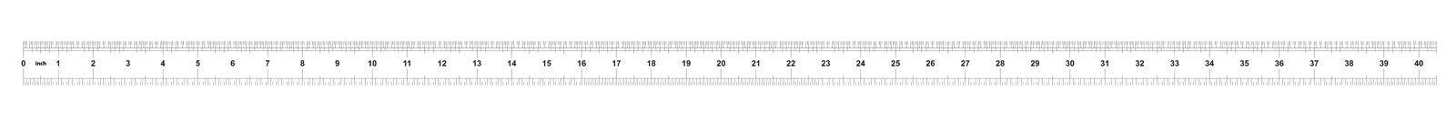 Heerser 40 duim keizer Metrische heerser 160 duim Nauwkeurig metend hulpmiddel Kaliberbepalingsnet stock illustratie