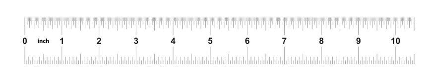 Heerser 10 duim keizer Metrische heerser 160 duim Nauwkeurig metend hulpmiddel Kaliberbepalingsnet royalty-vrije illustratie