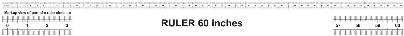 Heerser 60 duim Nauwkeurig metend hulpmiddel Van grootteduim indicatoren vector illustratie