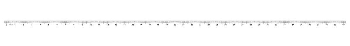 Heerser 40 duim Nauwkeurig metend hulpmiddel Van grootteduim indicatoren Kaliberbepalingsnet royalty-vrije illustratie