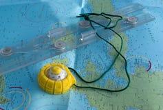 Heerser en kompas Royalty-vrije Stock Afbeelding
