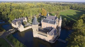 Heeswijk Castle seen from above royalty free stock photo