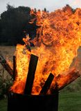 Heet brandbehang royalty-vrije stock foto