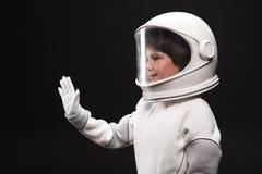 Heet de vriendelijkheids kleine astronaut iemand welkom royalty-vrije stock foto's