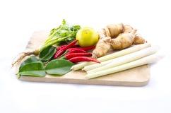Heet en kruidig voedselingrediënt voor Thais voedsel Stock Afbeeldingen