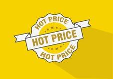 Heet het pictogramontwerp van de prijs rubberzegel Royalty-vrije Stock Afbeeldingen
