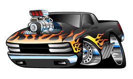 Heet Rod Pickup Truck Illustration Stock Afbeelding