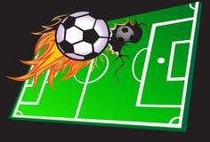 Heet voetbalspel Stock Fotografie