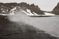 Heet Vulkanisch Strand - het Eiland van de Teleurstelling - Antarctica Royalty-vrije Stock Foto