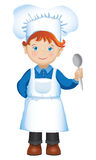 Сhef boy with spoon Royalty Free Stock Photography