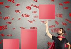 Hef het percentage van winst op Stock Afbeeldingen