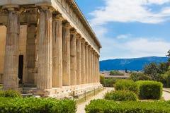 Hefaisteion, templo de Hephaestus, Atenas, Grecia foto de archivo