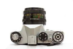 Hefbomen en knopen om de oude camera van filmslr te controleren royalty-vrije stock afbeelding