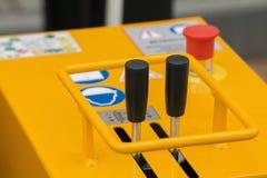 Hefbomen voor het controleren mobiel bouwmateriaal - oranje lichaam stock afbeelding
