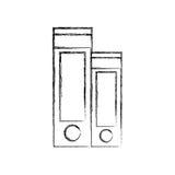 Hefboom archs geïsoleerd pictogram Stock Afbeelding