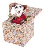 Hefboom-in-de-doos stuk speelgoed Stock Afbeelding
