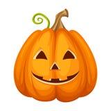 Hefboom-o-lantaarn Gesneden Halloween pompoen Vector illustratie stock illustratie
