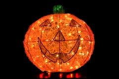 Hefboom-o-lantaarn Lit omhoog op Zwarte Achtergrond Royalty-vrije Stock Afbeelding