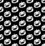 Hefboom-o-lantaarn pompoen hoofd zwart-witte kleur Royalty-vrije Stock Afbeeldingen