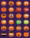 Hefboom-o-lantaarn smileygezichten Stock Afbeeldingen