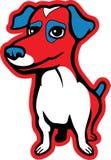 Hefboom Russell Terrier stock illustratie