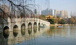 Hefei Kina Xiaoyaojin parkerar Royaltyfri Bild