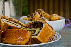 Hefekuchen und -plätzchen stockfoto