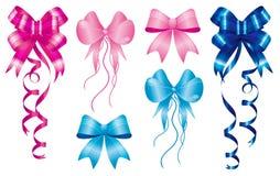 Heften Sie Geburt zu neues Schätzchen getragenem Set Farbbändern Stockbild
