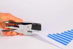 Heftendes Millimeterpapier stockfotografie